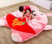 Fancytrader 220 см x 180 см jumbo Мягкие плюшевые розовый кролик кровать Ковры татами, отличный подарок, бесплатная доставка ft50675