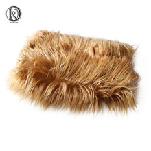 Acrylic 75x50cm newborn size faux fur basket stuffer newborn photography props blanket