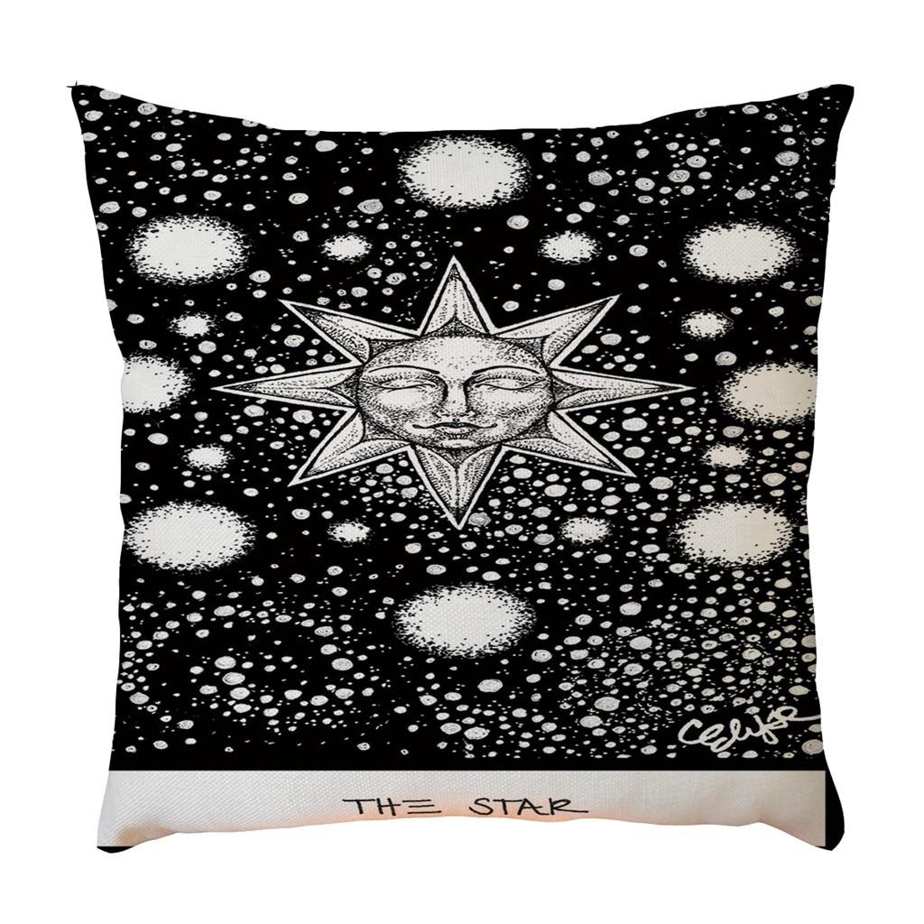 Exquisite Pattern Flax Pillowcase Pillow Case Cushion Cover Sofa Home Car Decor Cushion Cover Decorative Linen Pillow Case-in Cushion Cover from Home & Garden