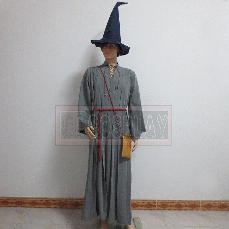 Le Seigneur des Anneaux Gandalf Robe Halloween Costume Cosplay vêtements Custome