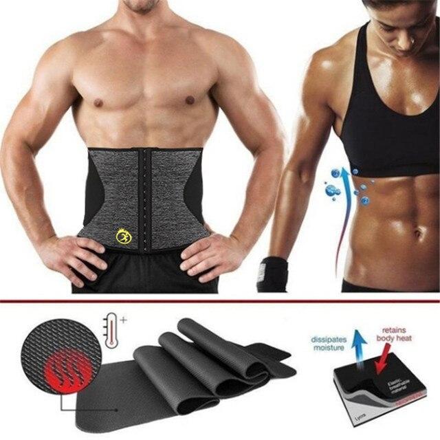NINGMI Body Shaper Men Waist Trainer Modeling Belt Neoprene Sauna Tummy Trimmer Strap Corset Cincher Slimming Shapewear Brace 3