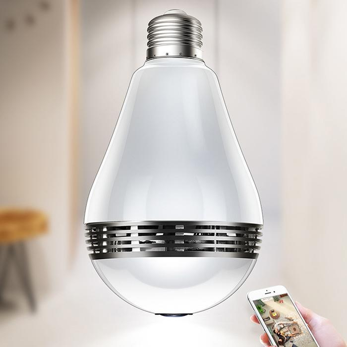 LED Light 960P Wireless Panoramic Home Security WiFi CCTV Fisheye Bulb Lamp IP Camera 360 Degree Home Security BurglarLED Light 960P Wireless Panoramic Home Security WiFi CCTV Fisheye Bulb Lamp IP Camera 360 Degree Home Security Burglar