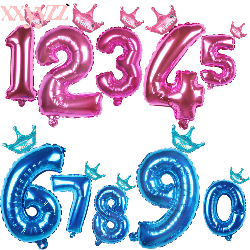 XXYYZZ 18inch Happy Birthday Party Decoration Little Horse Foil Unicorn Pony Balloons Wedding/Halloween/Christmas