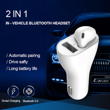 2019 new E020 Wireless TWS 5.0 Car Bluetooth wireless earphone with  FM Transmitter MP3 Player manos libres MicrophoneEP020