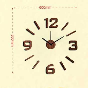 Reloj decorativo creativo vintage para el hogar saat relojes pared cocina diy...
