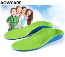 2016 New flatfoot arch support orthopedic sole  feet care one pair  9 size PU foam kids orthotic insole for children baby shoes