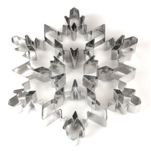 Stainless Steel Christmas Tree Snowflake Biscuit Cutter Mold Cake Decor Baking Tool TN88