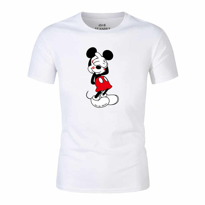 99f442c62 2018 Mickey print tees Goofy t-shirt men tops hip hop casual funny dog mouse