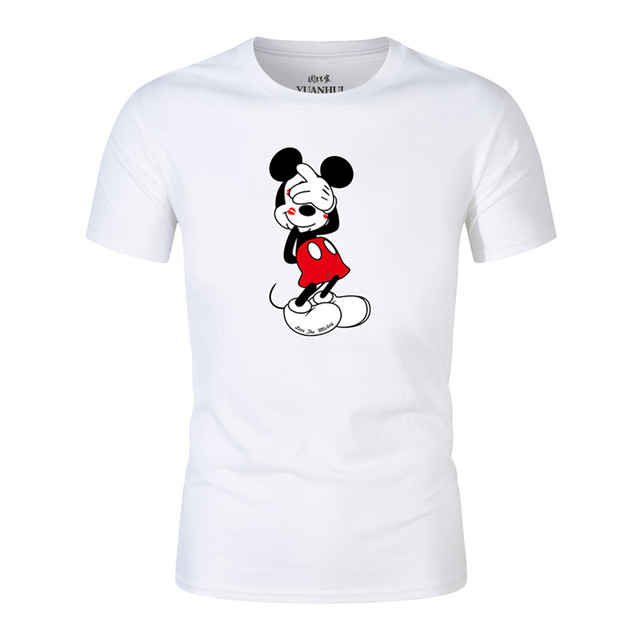 2018 New Arrival Mickey Mouse Men T-Shirt THE PUPPY 3D Printing Short Sleeve Casual Tee Shirts Hipster Funny Tops