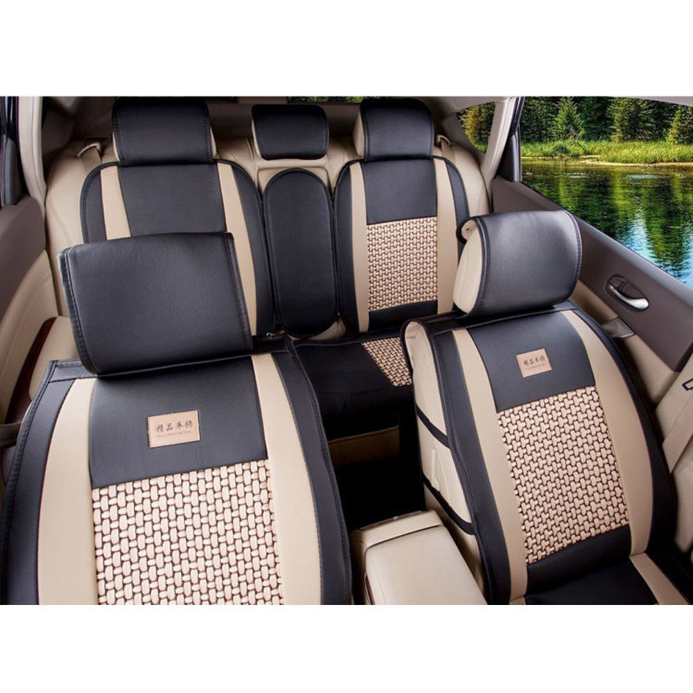 5 Seat PU Leather Car Covers Universal Size M L For Jeep Ford Focus Subaru Nissan Volkswagen Chevrolet Mazda Infiniti Bmw Wholesale Automobiles