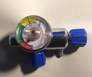 Pressure reducing valve oxygen steel tank valve with gauge refrigerator tool  цены