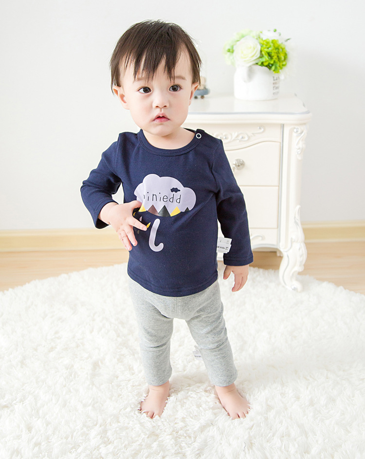 2017 Toddler Kids Baby Boys Girls Infant spring Autumn Long Sleeve cartoon Fox T-Shirt Tops Clothing Cotton cloud rain T-Shirts (23)