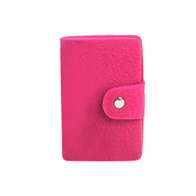 Women/'s Girls 24-Slots Felted Wool ID Credit Business Card Holder Case Organizer