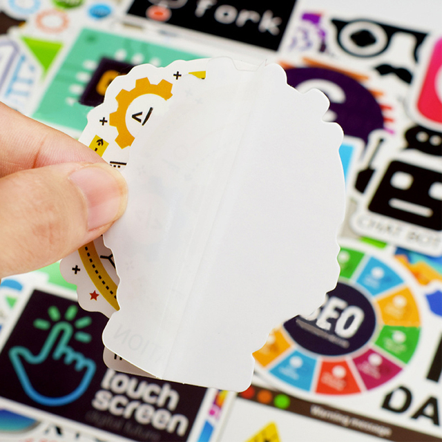 50 PCS Cool Programming Stickers Logo Internet Software Sticker Funny Gift for Geeks Hackers Developers to DIY Laptop Phone  4