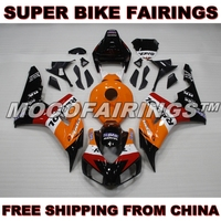 ABS Injection Fairings Kits For Honda Motorcycle CBR1000RR 2006 2007 Fairing Body Work ORANGE REPSOL