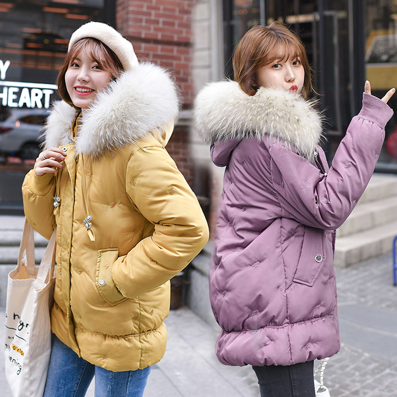 Brieuces 2020 New Winter Collection Women's   Parka   Hooded Warm Jacket For Women   Parka   Padded Coat Winter Big fur collar coat