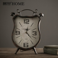 retro old iron art mute table clock nordic style vintage offbeat and chic clock luxury home decor super size watch