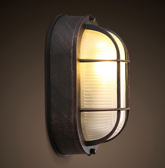 American Loft Style Iron Glass Wall Sconces Vintage LED Wall Light Fixtures For Living Room Bedside Wall Lamp Indoor Lighting fashion rustic iron bedroom bedside wall light fixture home deco living room e27 wall lamp european vintage glass wall sconces