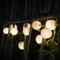 Solar Luces de la Secuencia de Bola Linterna 10/20 LED de Iluminación Solar Al Aire Libre Luces de Hadas de Luz Decorativa de la Navidad para la Fiesta de Vacaciones