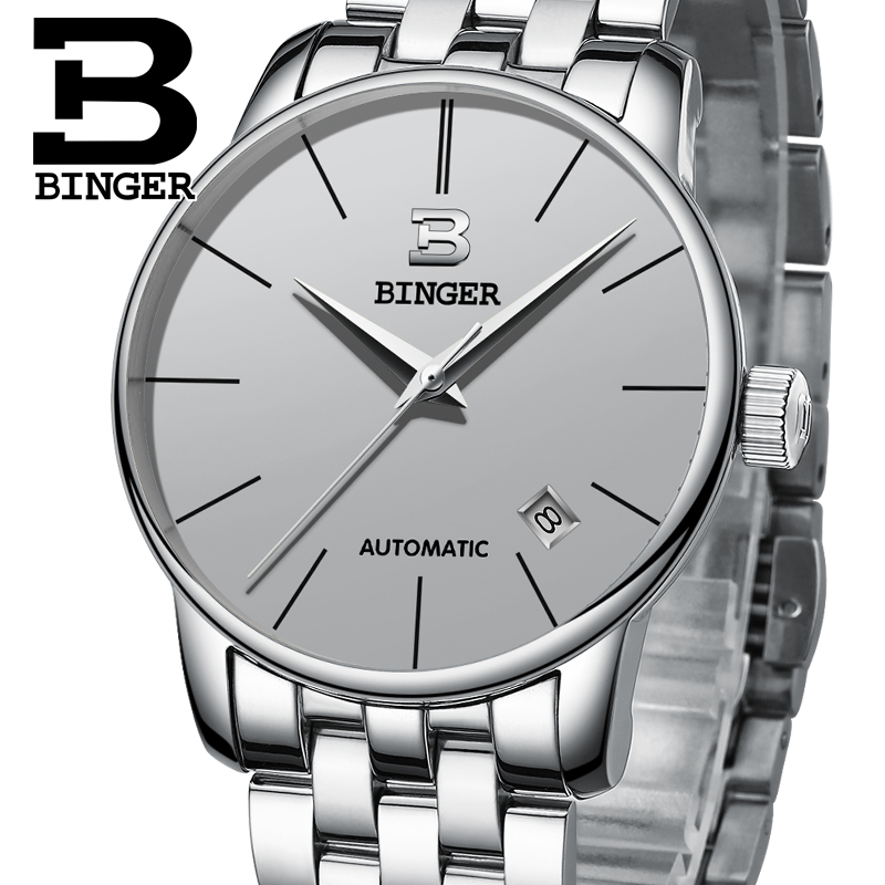 Switzerland BINGER Watches Men Luxury Brand relogio masculino Mechanical Watch Men Sapphire Waterproof Wristwatches B-5005M13