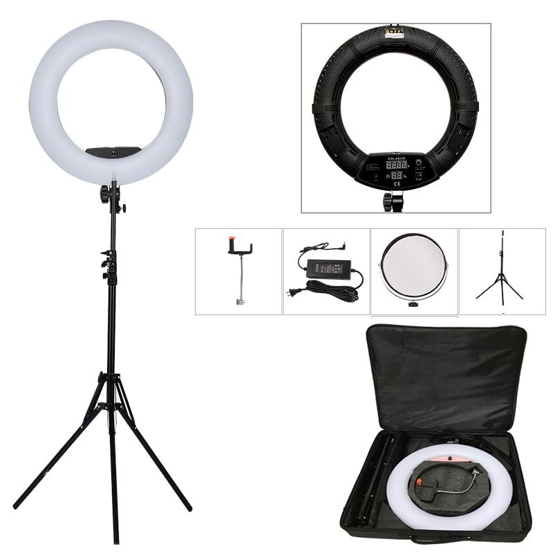 Yidoblo черный FD-480II 18 Студия затемнения светодиодный кольцо лампы комплекты 480 светодиодный видео свет лампы фотографическое освещение + подс...