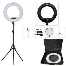 """Yidoblo Siyah FD-480II 18 """"stüdyo Dim LED lambası Yüzük Setleri 480 LED Video Işık Lambası Fotografik Aydınlatma + standı (2 M) + çanta"""