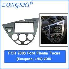 Автомобильная установка DVD рамка, DVD панель, Dash комплект, фасции Для 06 Ford Fiesta/Focus, 2DIN(европейский, LHD