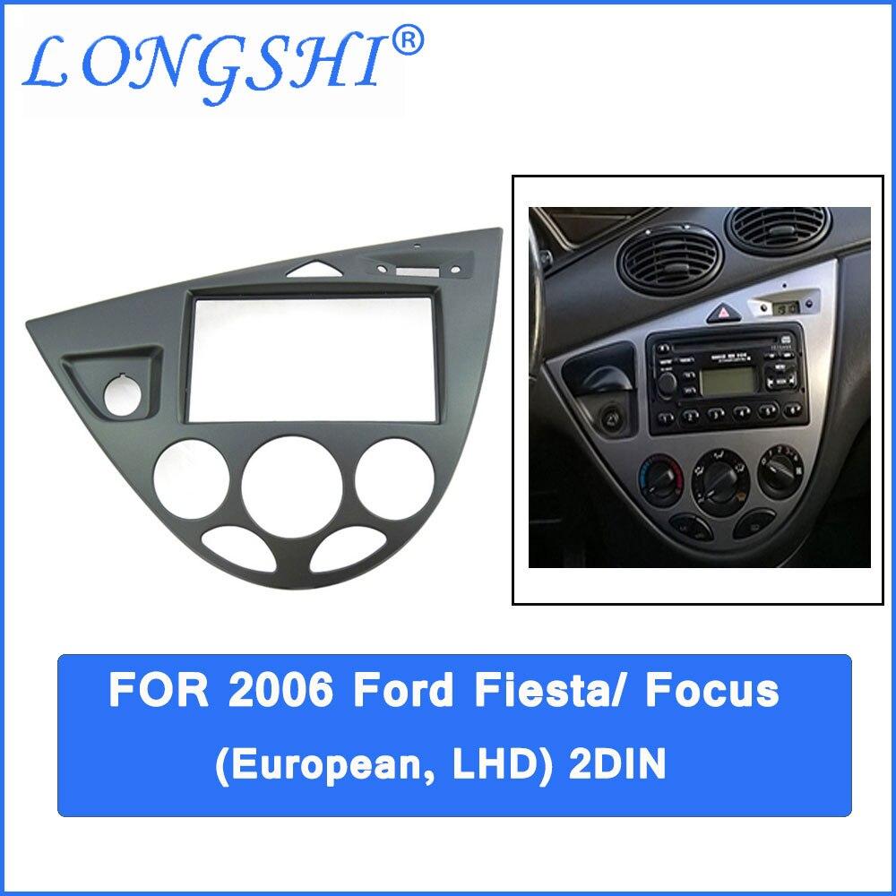 Автомобильная установка DVD рамки, DVD панель, Даш комплект, фасции Для 06 Ford Fiesta/Focus, 2DIN (европейский, LHD)