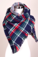 Fashion Winter 2015 Tartan Scarf Desigual Plaid Scarf cuadros New Designer Unisex Acrylic Basic Shawls for