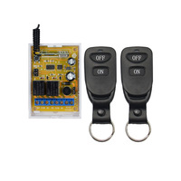 12V 24V Wireless Remote Controls 2CH Wireless 433MHz Remote Control Switch With Multifuction Cross Type