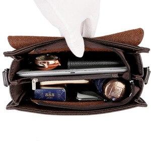 Image 5 - ใหม่มาถึงธุรกิจผู้ชายMessengerกระเป๋าVINTAGEกระเป๋าหนังCrossbodyกระเป๋าสะพายชายCasual Manกระเป๋าถือกระเป๋าแฟชั่น