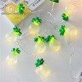 De vacaciones 1.65 m 10 LED luz de la Secuencia Con Pilas de la Piña Para Guirnalda Dec Festival del Banquete de Boda de Navidad Luces de Intermitencia