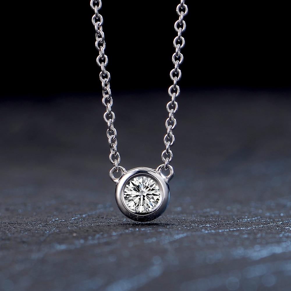 18K Gold Diamond Pendant White Gold Diamond Diamond Necklace Set ...