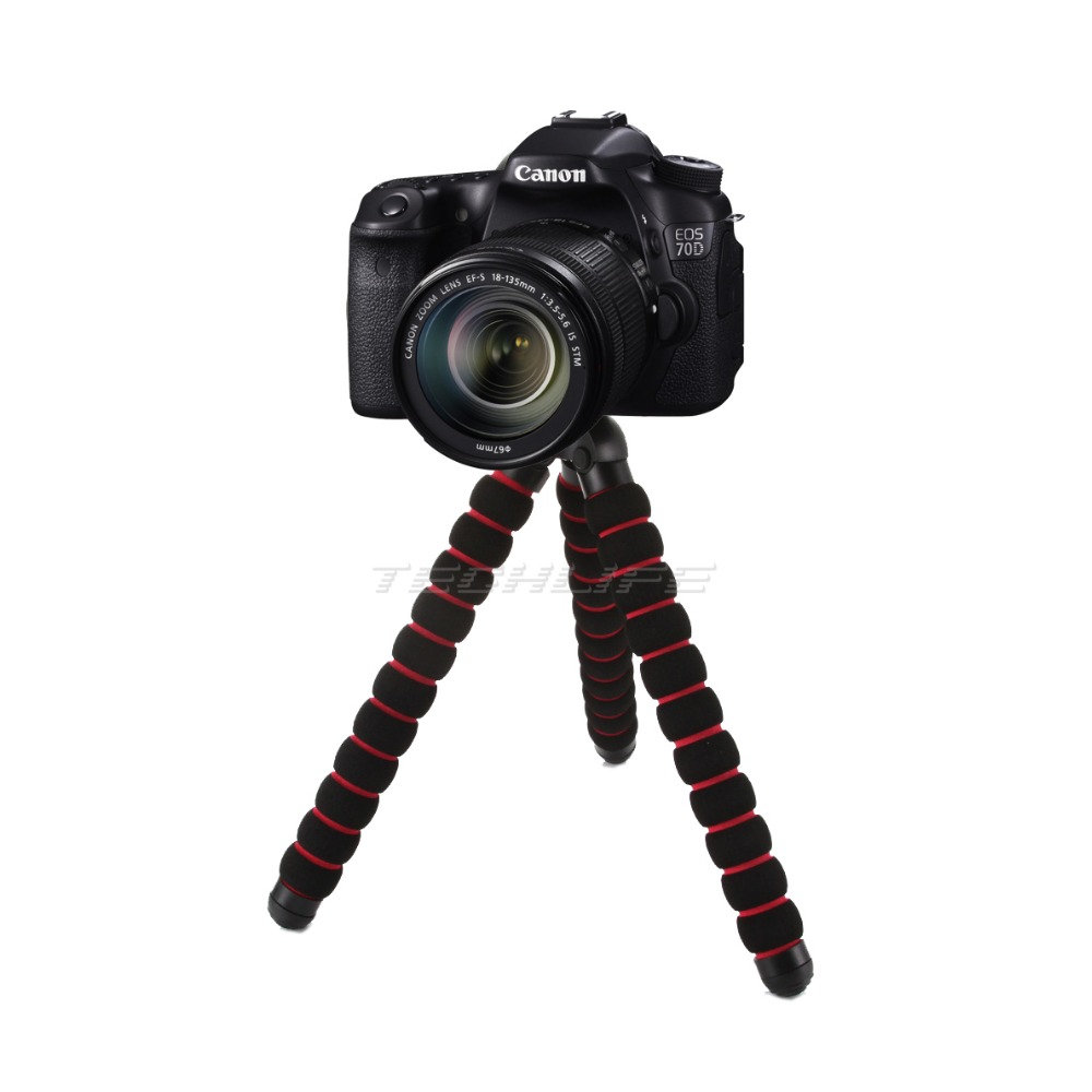 """Prix pour Grand Poulpe Araignée Flexible Mini Trépied DSLR Caméra DV Stand 1/4 """"3/8"""" Vis de Montage Pour Canon Nikon"""