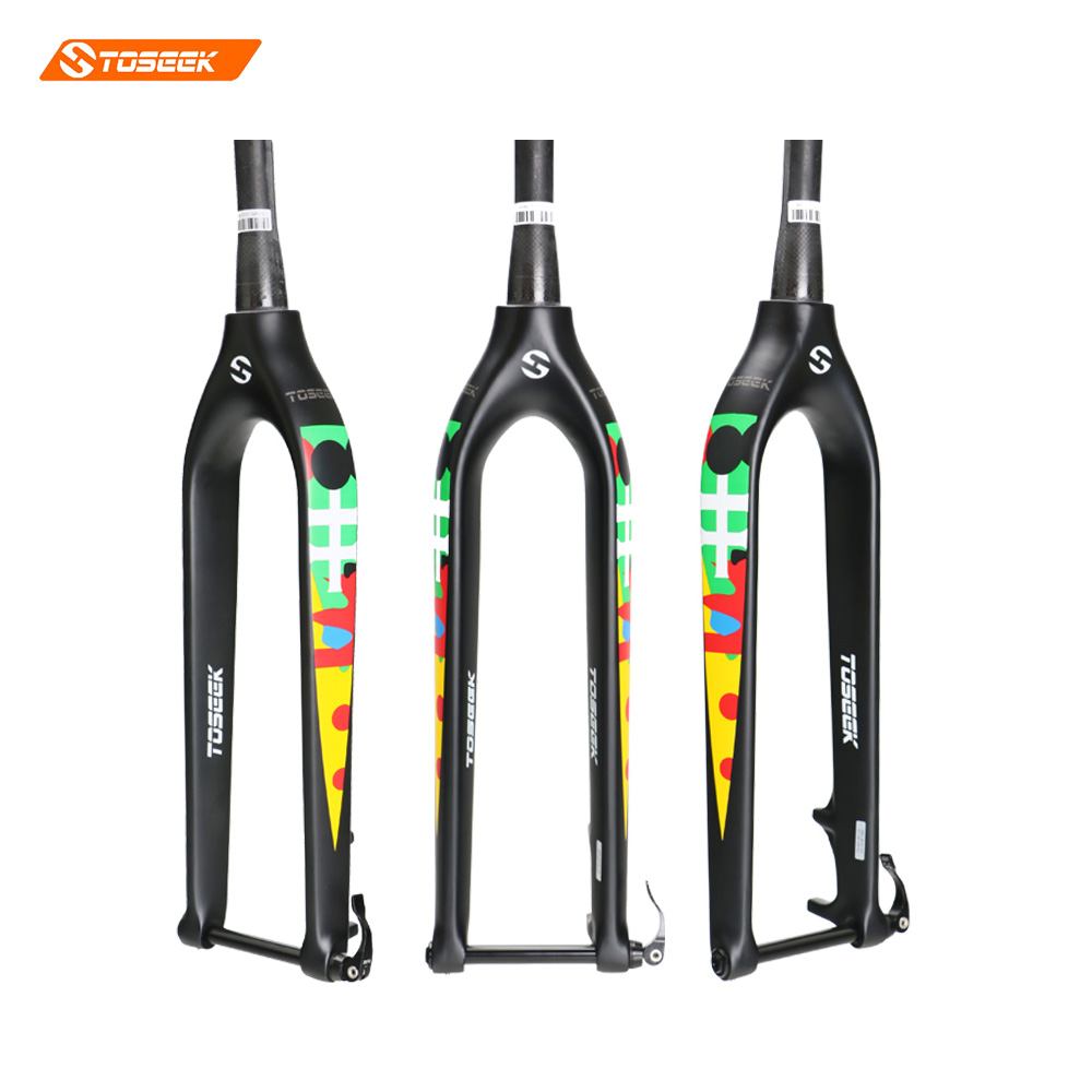 2016 NEW TOSEEK UD Matte Full Carbon Mountain Bicycle Fork 29 inch 100% Carbon MTB Bike Fork Through Shaft 15mm new hot full carbon fiber mountain bike fork 27 5er plus super light ud weave glossy matte alxe 15 110mm bicycles 2017