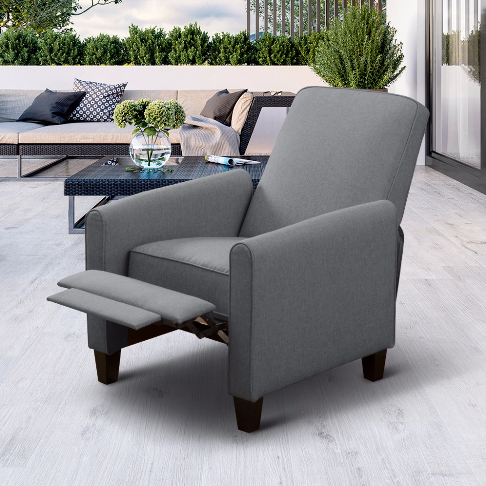 Reputable Living Roomsofas From Langria Push Back Recliner Sofa Chair Lounger Langria Push Back Recliner Sofa Chair Lounger Fabric Upholstery Fabric Upholsteryelevating Footrest Padded Seat Pillow Bac furniture Lounger Sofa Chair