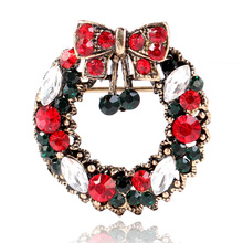 CINDY XIANG Creative Bow garland Brooches For Women Vintage Alloy Christmas Corsage Accessories Suit Coat Pins Jewelry Hot Sales