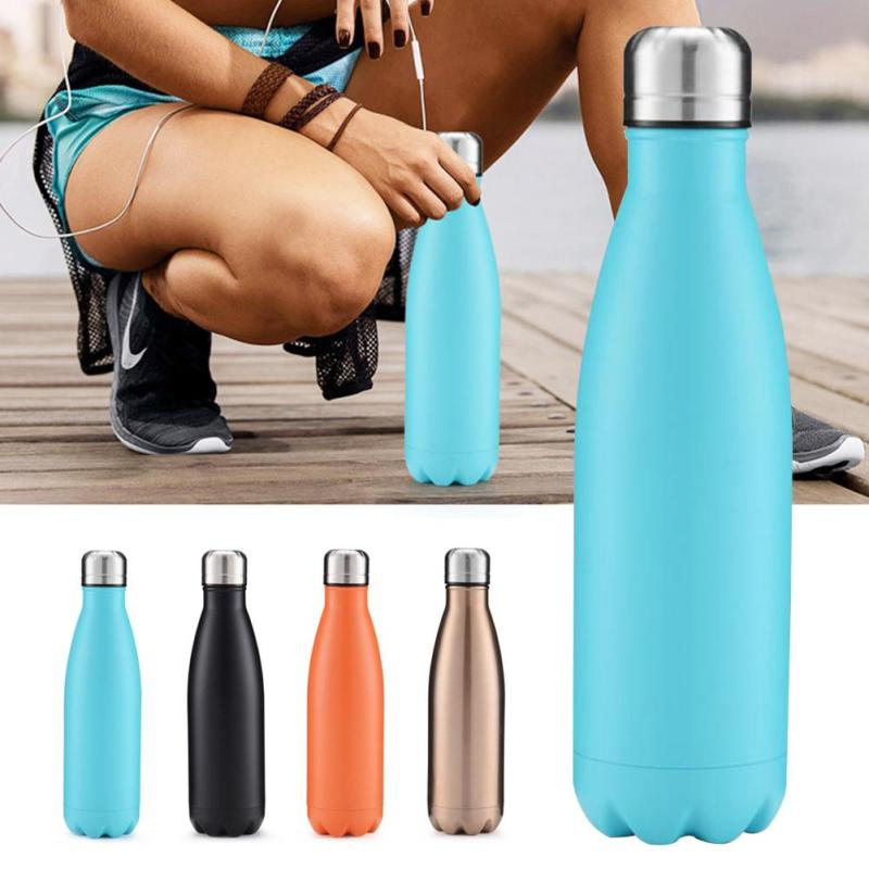 500ML Water Bottle Portable Outdoor Insulation Bottle 304 Stainless Steel Sports Camping Bottle Creative Gift F