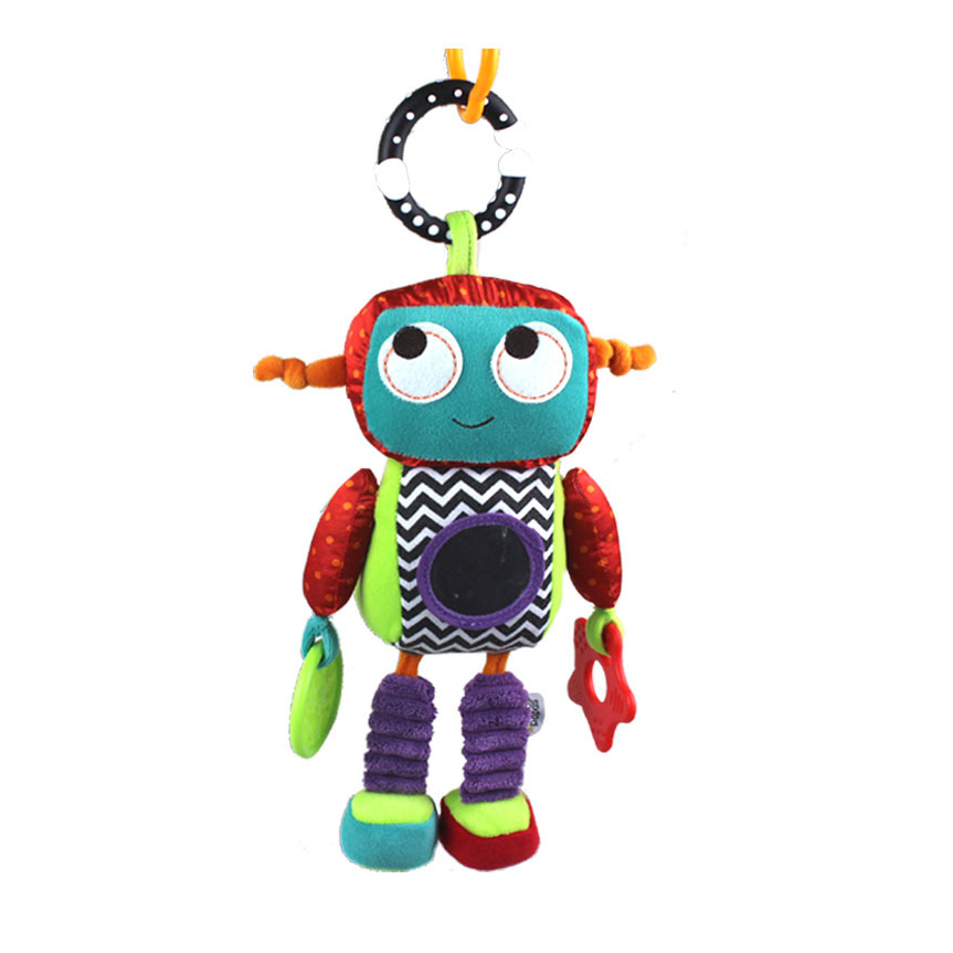 Sozzy Baby Plush Mobile Musical Rattle Toys Robot Style Baby Handing Toys for Newborn 0-12 month Early Educational Toys Doll baby toys rattle tinkle hand bell multifunctional plush stroller mobile toy gifts