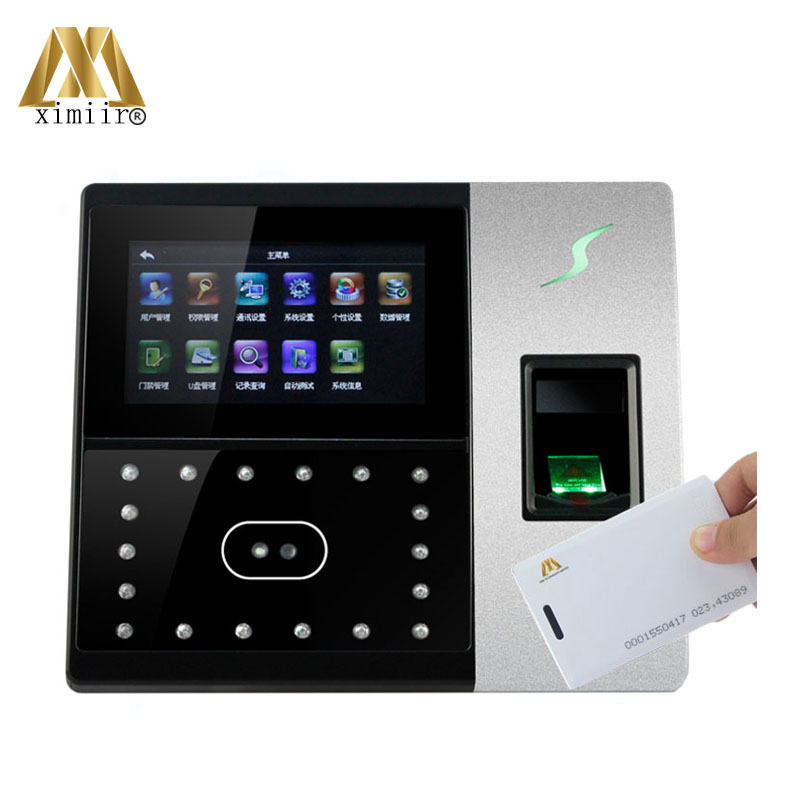 Linux System TCP/IP Iface702-H 1200 Face Capacity Face Fingerprint Time Attendance And Access Control With RFID Card Reader