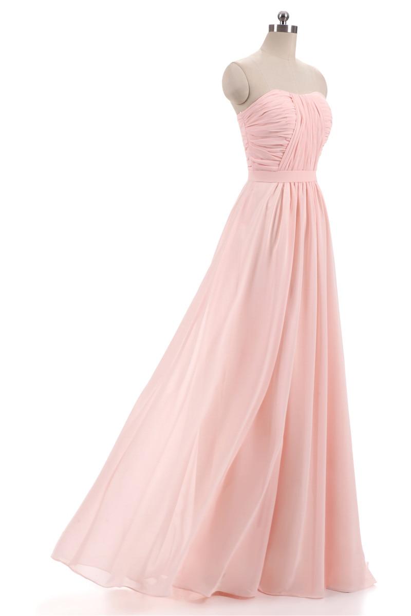 Nové růžové Lilac šifónové družičky šaty 2018 Plus velikost - Šaty pro svatební hostiny - Fotografie 3