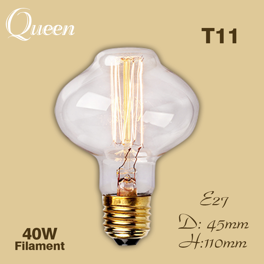 ampoule vintage edison bulb e27 incandescent filament decorative light bulb 40w 220v lampada. Black Bedroom Furniture Sets. Home Design Ideas