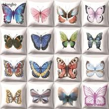 Hongbo Butterfly Printed Pillowcase Cute Pillow Case Decorative Pillowcases Cover funda de almohada Cojines