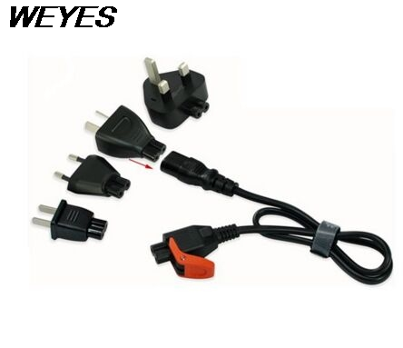 WEYES High Quality universal travel power cord kit for UK/US/AU/EU, Universal with C7 free shipping