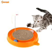 VOVOPET Cat Turbo Scratcher Corrugated Paper Interactive Training Kitten Scratching Pad Board Funny Play Cats Post
