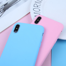 Candy Color Silicone Case For iPhone XS Max Case For XR 6 6s 7 8 Plus X 5s SE Ultra thin Frosted Smart Soft TPU CASE Back Cover цена и фото