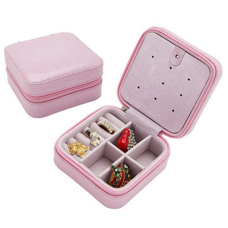 Fashion Cosmetic Leather Jewelry Box Necklace Ring Travel Storage Case  Organizer Display Accessories In Jewelry Packaging U0026 Display From Jewelry  ...