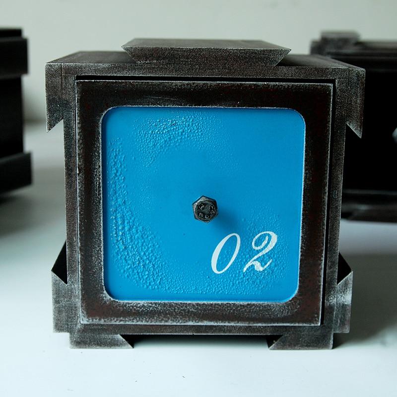 Vintage boîte en bois bijoux stockage coffre au trésor boîte à tiroir organisateur manuel boîte en bois bureau articles divers boîte de rangement tiroir - 4