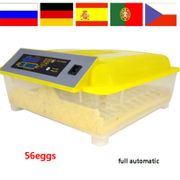 220V/110V Digital Temperature Small 56 Egg Incubator Bird