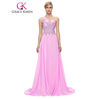 New Arrival Real High Quality One Shoulder Women Elegant Formal Evening Dresses CL4506